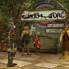 North bank of the Moonflow in <i>Final Fantasy X</i>.