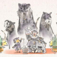 Artwork of Tigers in New Year 2010 event.