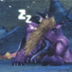 Image of the <i>Final Fantasy X</i> Behemoth's sleeping animation.