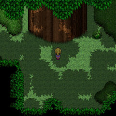 Krile visits the Guardian Tree.