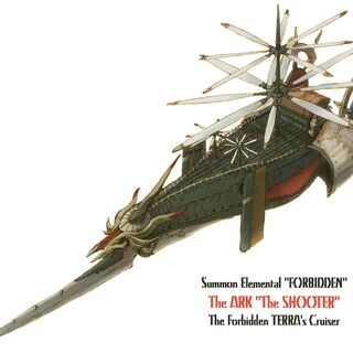 Concept artwork of Ark's airship form.