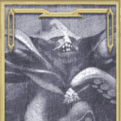 Kraken's portrait in the Old Chaos Shrine in <i>Dissidia</i>.
