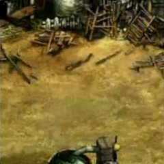Nibelheim ruins in <i>Before Crisis -Final Fantasy VII-</i>.