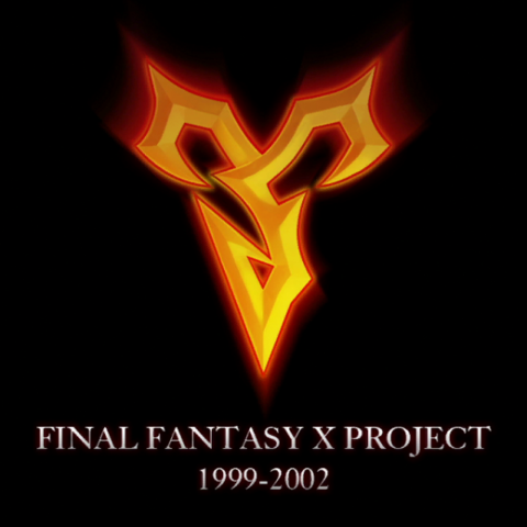 Zanarkand Abes emblem in <i>Final Fantasy X Project</i> logo.