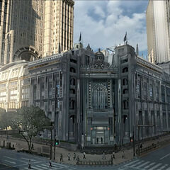 Concept art of one of the many buildings in Insomnia.