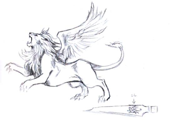 sterling silver final fantasy viii 8 squall by ... |Final Fantasy 8 Gunblade Tattoo