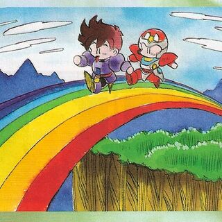 Crossing the rainbow.