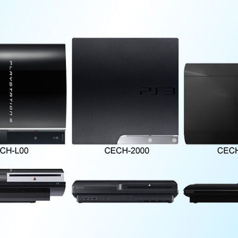 Comparison between all three models of the PlayStation 3.