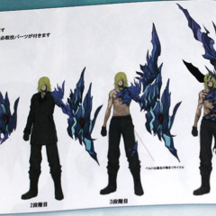 Concept art of Snow's four boss forms.