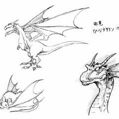 Wind Drake for <i>Final Fantasy V Anthology</i>.