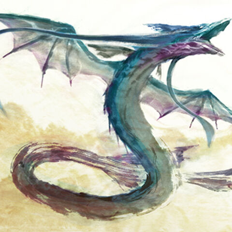 Leviathan, illustration by Mitsuhiro Arita.