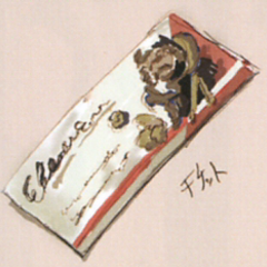 Artwork of Vivi's fake theater ticket from <i>The Art of Final Fantasy IX</i> book.