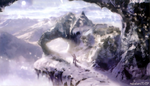 CCFFVII Modeo Mountain Artwork