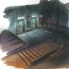 Concept art of the entrance.