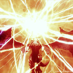 Bahamut using Teraflare in the original <i><a href=