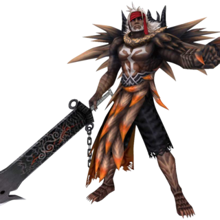 Jecht as Braska's Final Aeon in <i>Dissidia</i>.
