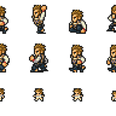 Set of Balthier's sprites.