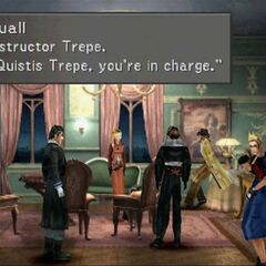 Squall saying Quistis is in charge.