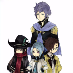 Miyu with other characters in <i>Final Fantasy Type-0 Side Story: The Reaper of the Icy Blade</i>.