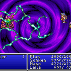 Warp1 cast on the enemy party in <i><a href=