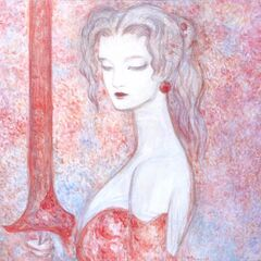 Original Yoshitaka Amano artwork of Terra for <i>The Sky</i>.