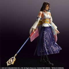 Yuna Play Arts action figure for the HD Remaster.