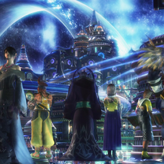 Zanarkand in the movie sphere in <i>Final Fantasy X</i>.