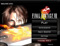 FFVIII 2013 Main Menu Launcher