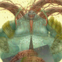 Cúchulainn using Blight in <i>Final Fantasy Tactics A2: Grimoire of the Rift</i>.