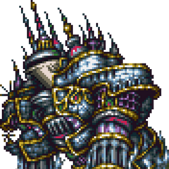 Alexander in <i>Final Fantasy VI</i> (SNES).