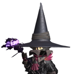Black Mage render for the original <i>Final Fantasy XIV</i>.