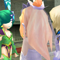 Rydia at the wedding (DS/iOS).