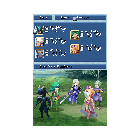 The Party menu in the DS version.