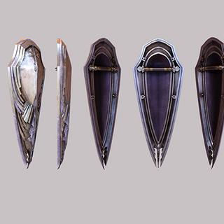 Gladiolus's shield.