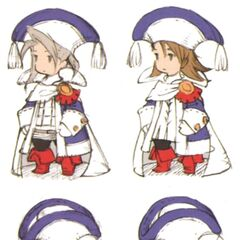 Early DS concept art of the Sage job for Luneth and Refia by Akihiko Yoshida.