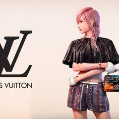 Lightning modelling a top, shorts, and a handbag from the same collection.