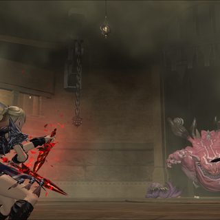 Ultros and Typhon in the coliseum.