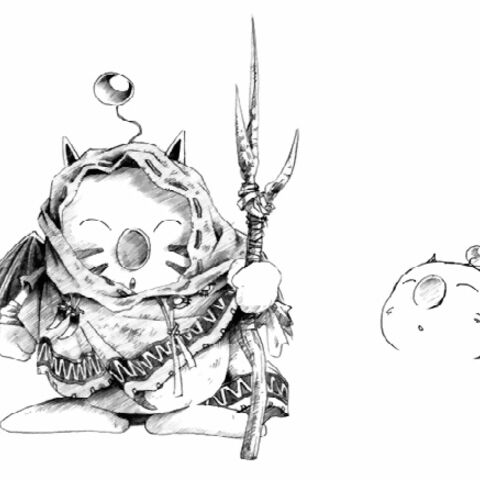 Moogle artwork for <i>Final Fantasy V</i>.