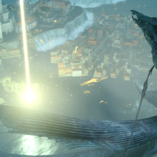 Leviathan being repelled by Luna.
