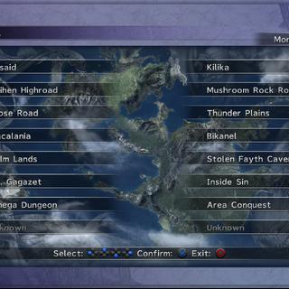 Monster Arena menu (PS3).