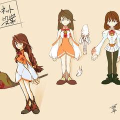 Signed concept art of Garnet by Toshiyuki Itahana.
