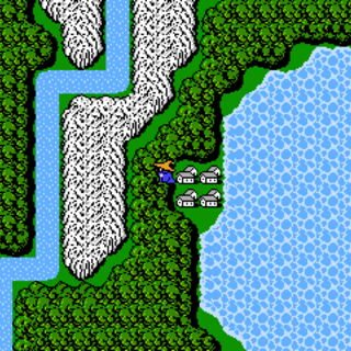 Onrac on the World Map (NES).