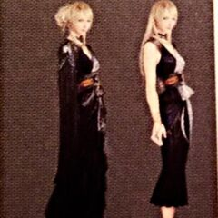Unused designs for Lunafreya's outfit.