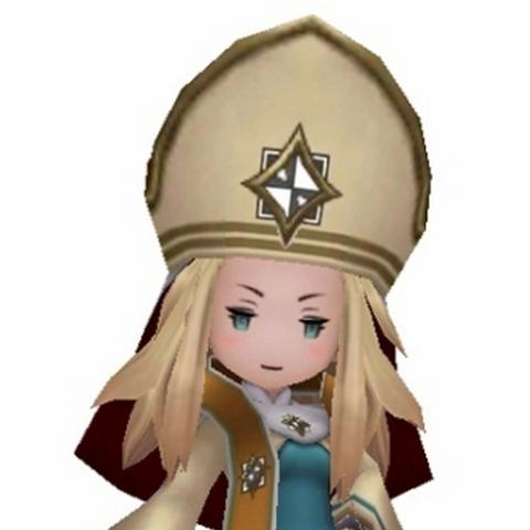 Edea as a Bishop.