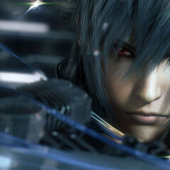 Noctis close-up, highlighting his change in eye color.