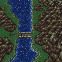 The entrance to the Cave to the Sealed Gate (SNES).