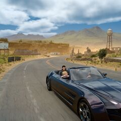 Noctis drives Regalia.