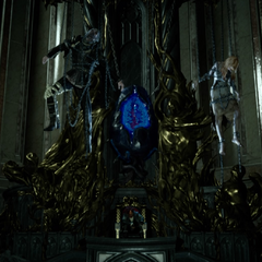 Throne room with the Crystal.