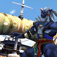 Kimahri on S.S Liki in <i>Final Fantasy X</i>.