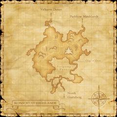 A map of Konschtat Highlands.